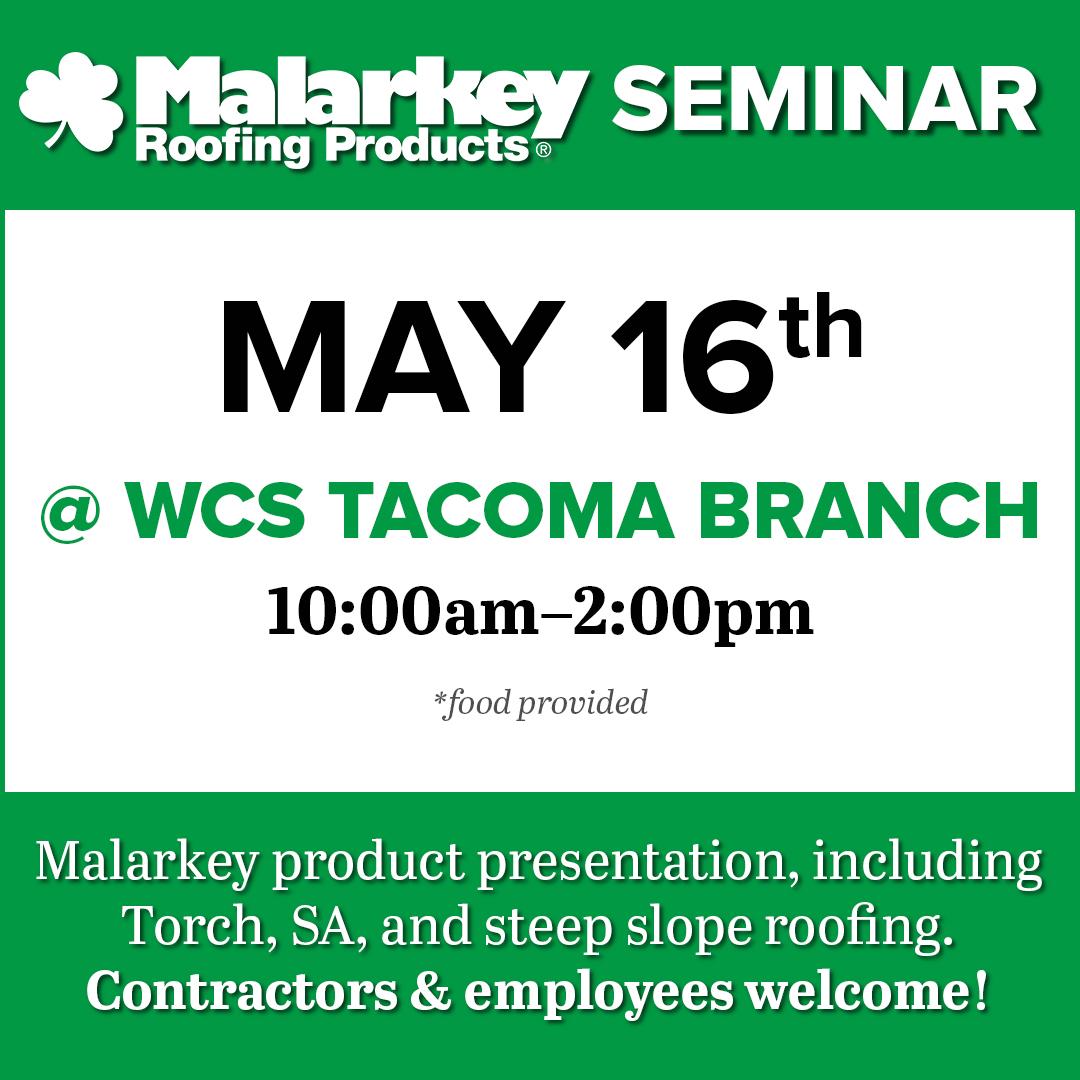 Seminar Malarkey Roofing Products Washington Cedar And