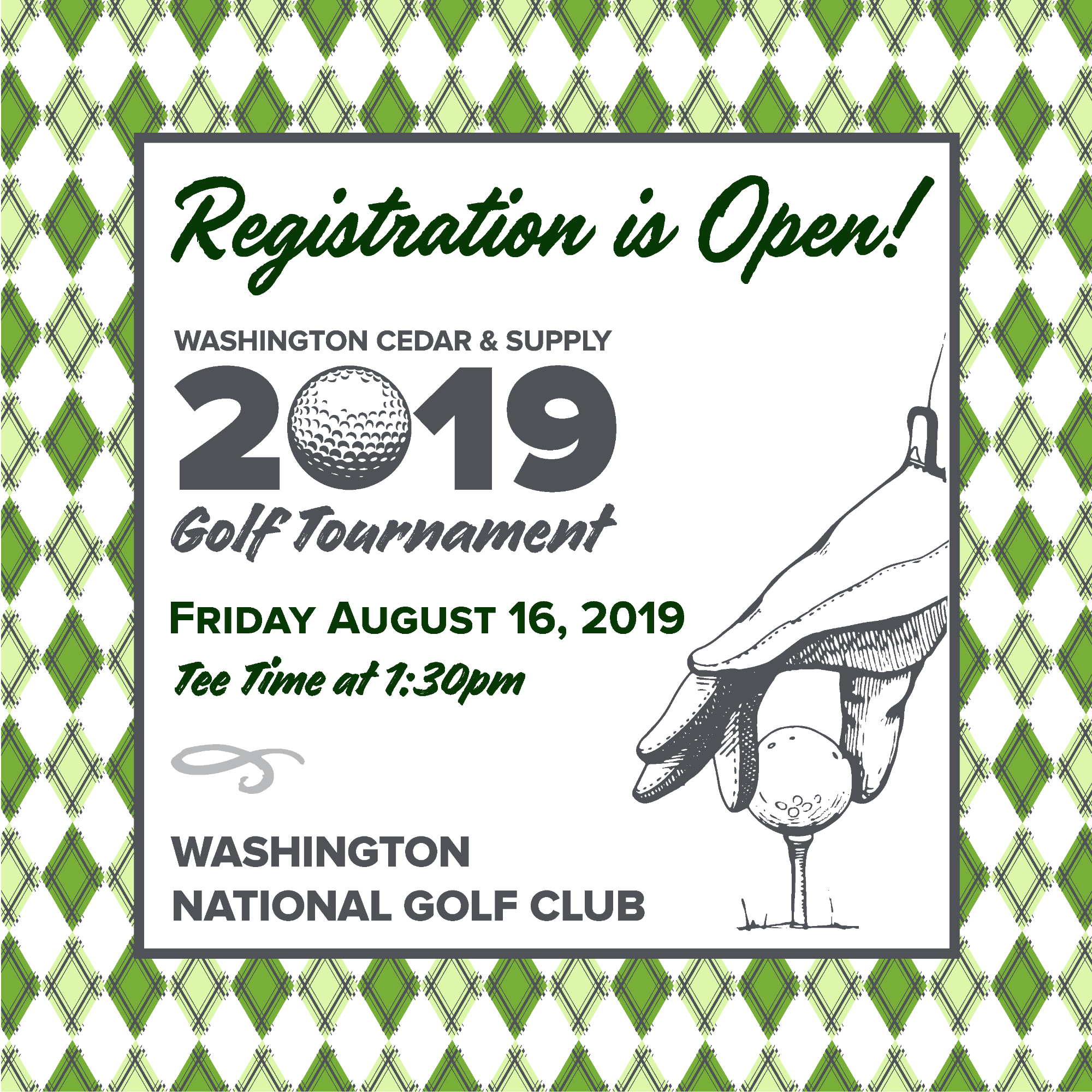 Blog Post Image 2019 Golf Tournament Registration is Open!